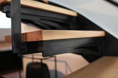 Escalier métallique - agencement sur mesure réalisé par les Etablissements CRAPEAU