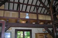 Projet de mezzanine avec garde-corps métallique et conservation de l'espace - Vue avant mise en place